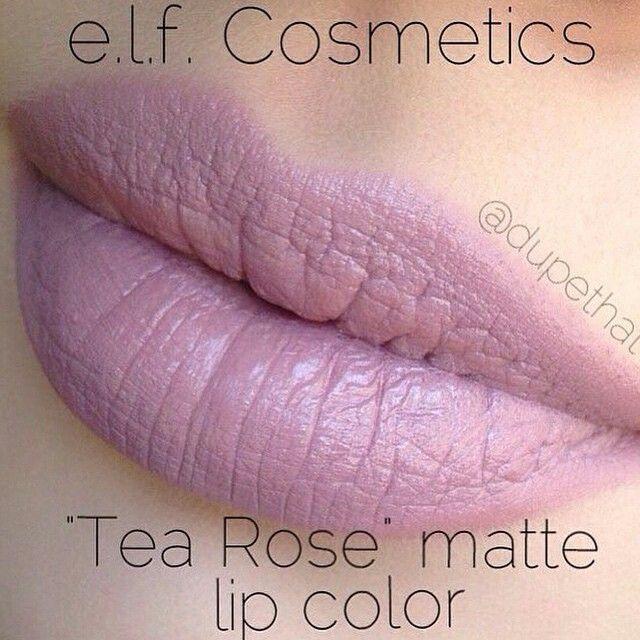 I don't know if I could pull this off but it's beautiful. | E.L.F. Tea Rose (matte) ✔