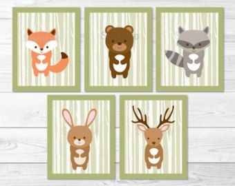 Woodland Forest Animals Folded Thank You by LittlePrintsParties