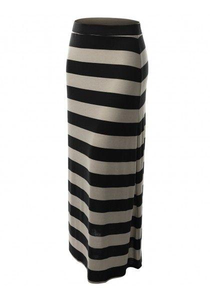 Striped Maxi Skirt #jtomsonplussize