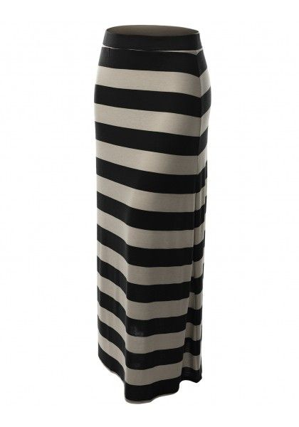 Striped Maxi Skirt #jtomsonplussize