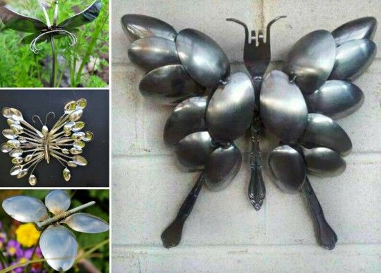 fashion buy online DIY Silver Spoon Schmetterlings Kunst f  r Haus und Garten