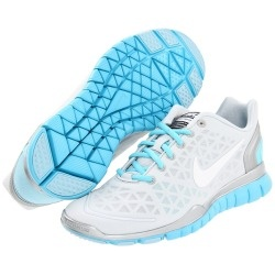 Nike - Free TR Fit 2 (Pure Platinum/Metallic Silver/Tide Pool Blue/White) - Footwear | www.grabevery.com: Running Shoes, Free Tr, Discount Nike, Cheap Nike, Nikes, Nike Shoes, Tr Fit, Nike Free