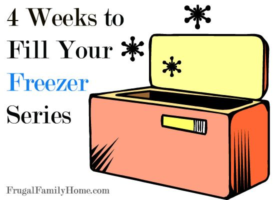 Freezer friendly recipes to fill your freezer. There are 4 weeks of recipes from breakfast to dessert and everything in between. Fill your freezer with these great recipes and save money.