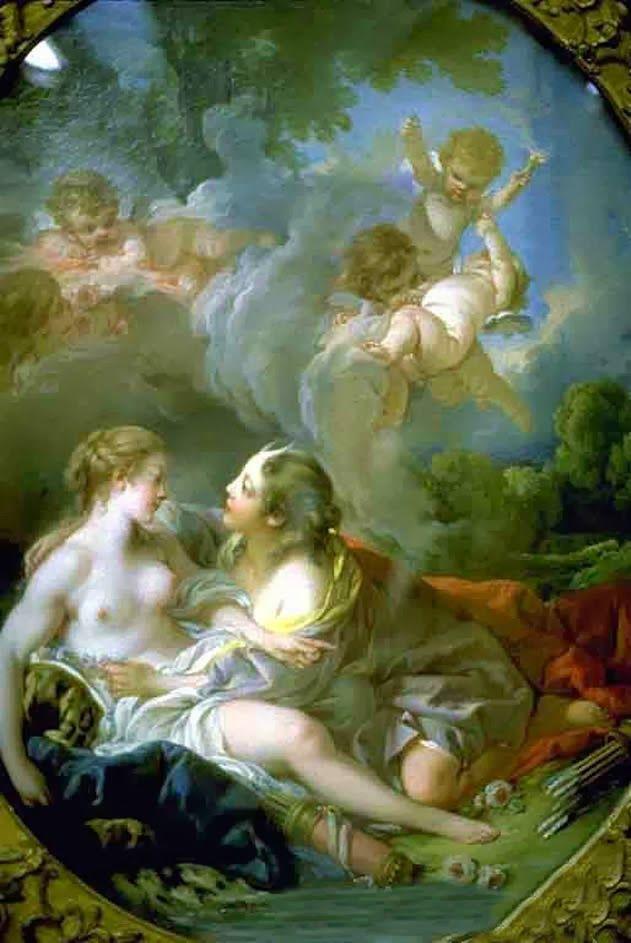 Ο Δίας μεταμορφωμένος σε Άρτεμη και η νύμφη Καλλιστώ 1769