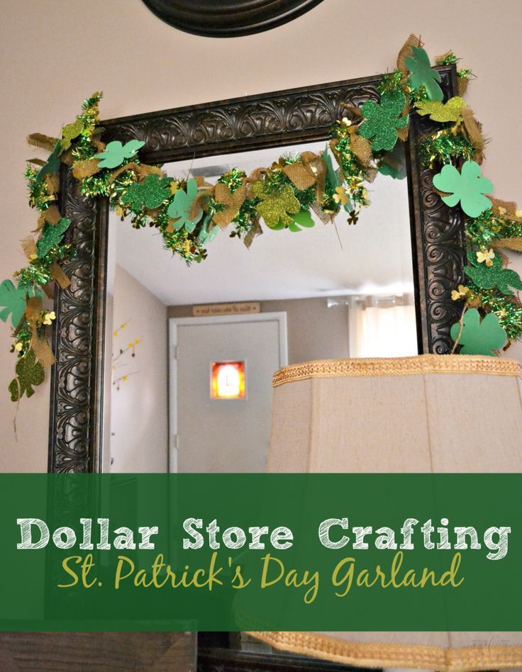 Dollar Store Crafting: St. Patrick's Day Garland   This Girl's Life Blog
