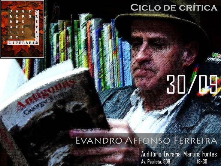 O grupo de crítica literária Jardim Alheio convida o público para o ciclo de conversas com escritores brasileiros, que se inicia na Livraria Martins Fontes no próximo dia 30, às 19h30, com entrada Catraca Livre.