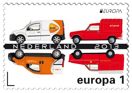 Renault Kangoo (2013); Fiat Fiorino  (2010); Simca 1100 VF (1976);  Daf 33  Bestelauto (1974)    http://collectclub.postnl.nl/pages/detail/s1/10220000001851-2-21010000000080.aspx