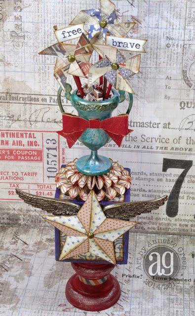 Annette's Creative Journey: Compendium of Curiosities 29 - Eroded Metallic