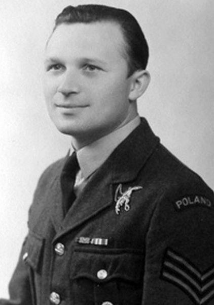 Podporucznik (Pilot Officer) Marian Bełc (27 January 1914 - 27 August 1942). Victories: 7 & 1/8 confirmed - 0 probable - 0 damaged. Awards: Krzyż Srebrny Orderu Virtuti Militari (The Silver Cross of Virtuti Militari), Krzyż Walecznych 4-krotnie (Cross of Valour and 3 bars), Distinguished Flying Cross.