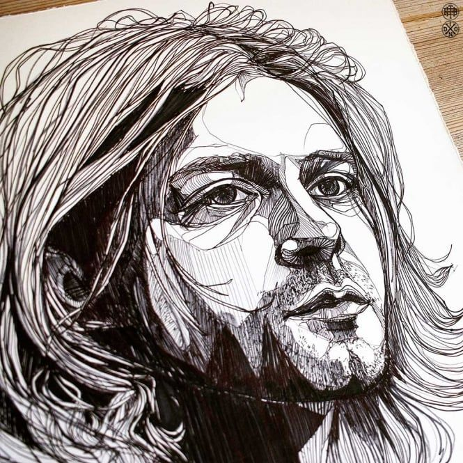 LUKE DIXON - - KURT COBAIN - ORIGINAL ARTWORK -