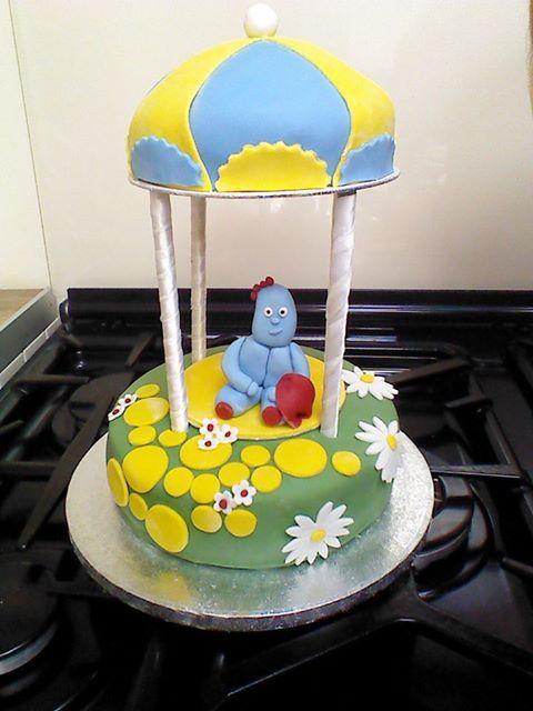 Iggle Piggle cake.  The roof is sponge too.