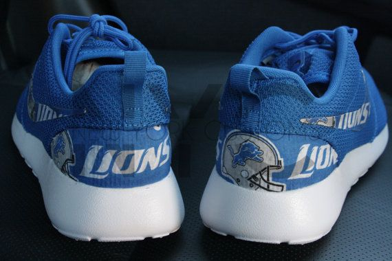 Detroit Lions Football Nike Roshe Run Custom Men Women & Kids