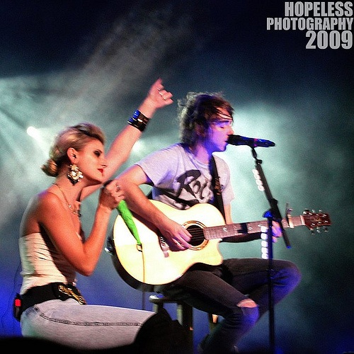 juliet simms of automatic love letter and alex gaskarth of