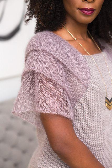 Ravelry: # 22 Ruffle Sleeve Top pattern от Laura Zukaite