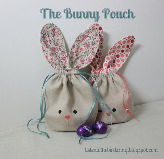 Patrón bolsa de conejo por BirdsongStitches en Etsy