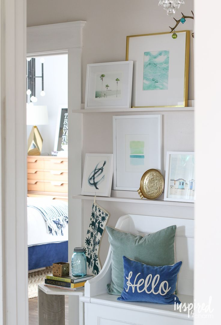 Website Picture Gallery How to make a picture ledge and decorate it