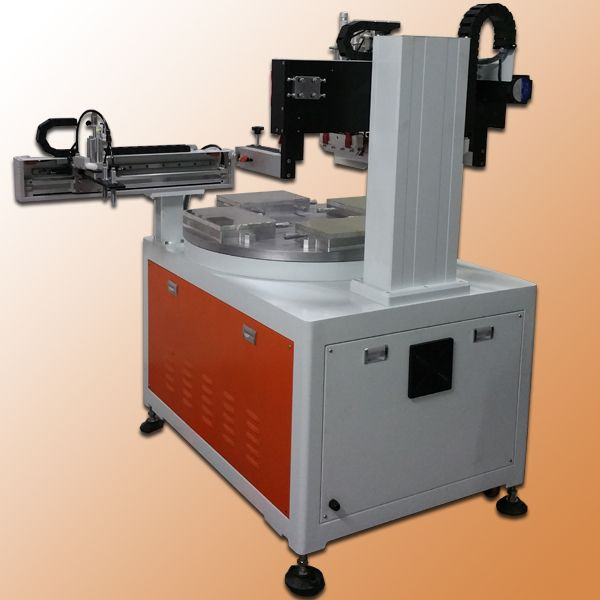 automatic 4 station silk screen printing machine,  signs printing machine, electrical enclosures screen printing machine