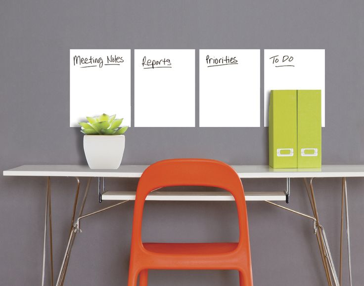 Peel and Stick Dry Erase Whiteboard Wall Decal