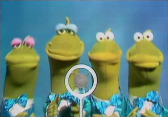 """The Gills Brothers are a quartet of fish singers featured several times on The Muppet Show.  The Gills Brothers debuted in episode 312 as musicians in a fish band playing """"Octopus' Garden."""" They sang songs for quartet in episode 402 and episode 424, accompanied the Fish Singer in episode 413, and sang the backups for Lew Zealand's rendition of """"Goodnight Sardine"""" in episode 521."""
