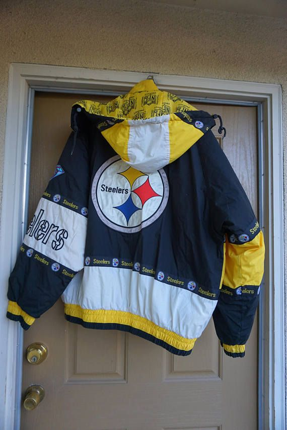 outlet store 0462f ef746 Pittsburgh Steelers Vtg Pro Player Football Winter Puffer ...