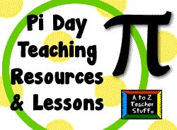 I've gathered a list of Pi Day (Mar 14) resources here - activities, songs, calculating pi, resources.