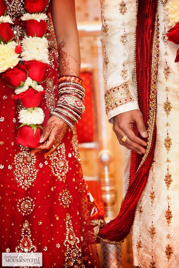 Indian Wedding Red Rose Garland - more inspiration @ http://www.ModernRani.com
