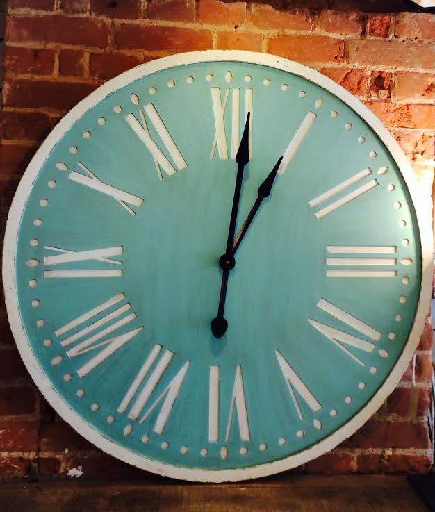 Large Wall Clock In A Duck Egg Blue Charlotte Quest