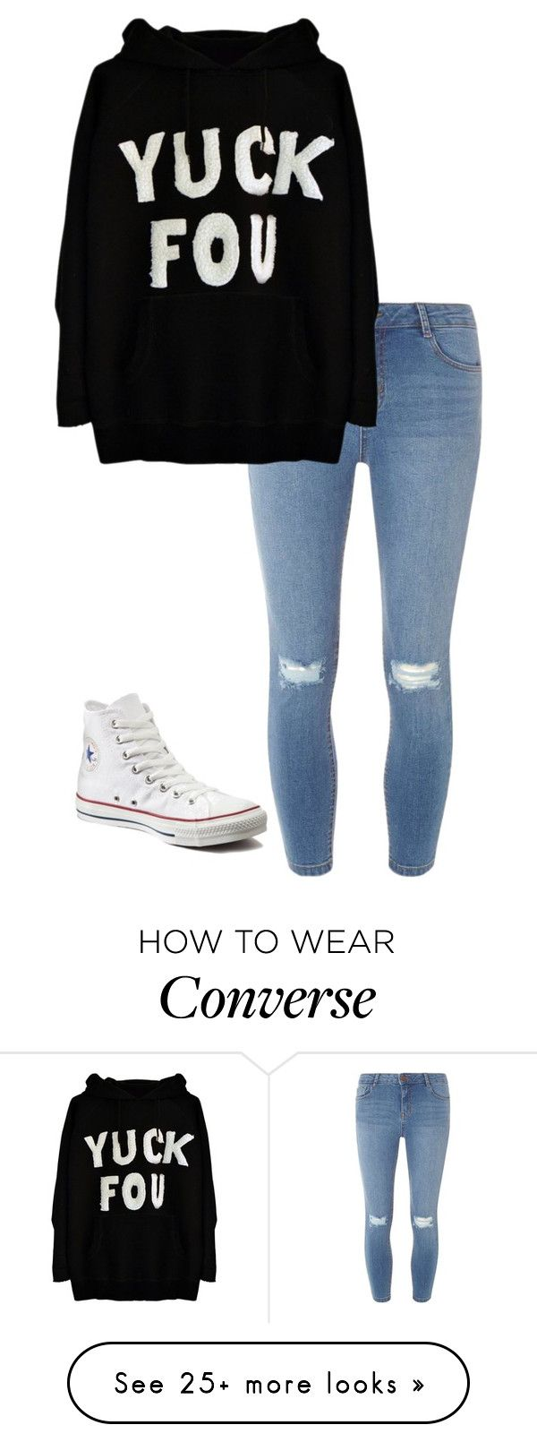 """Dull"" by clouded4ever on Polyvore featuring Dorothy Perkins and Converse"