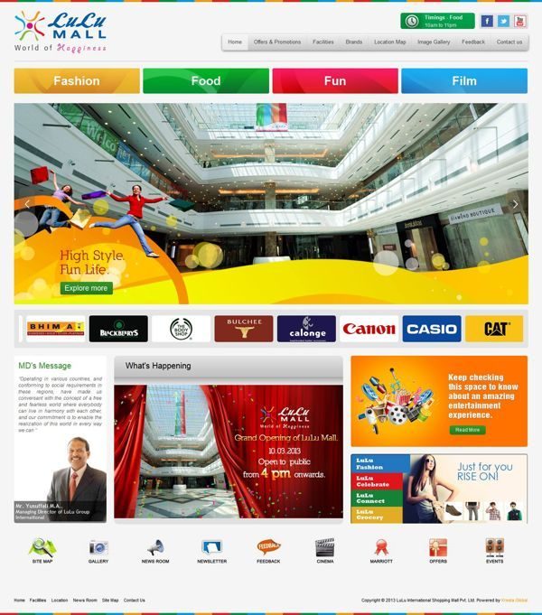 shopping mall web design