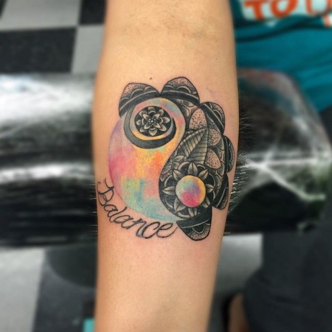 45 Spiritual Yin Yang Tattoos design – Main Elements of The Universe
