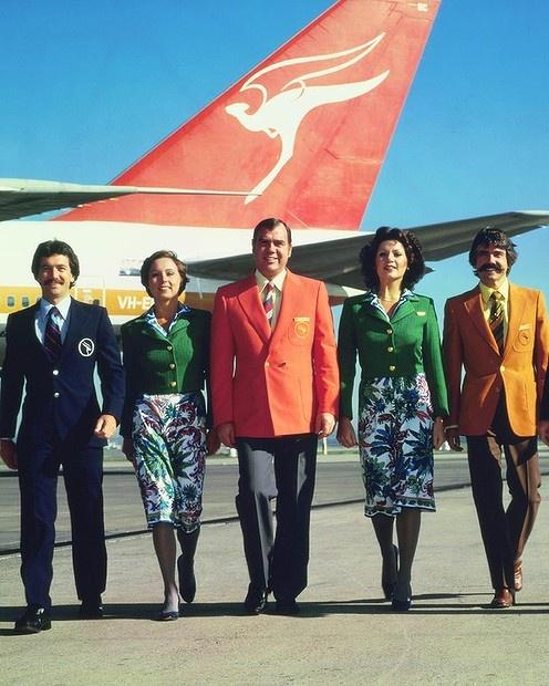 Qantas uniforms 1974-1985.