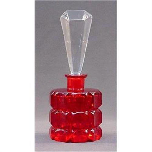 VINTAGE Czechoslovakian RED Perfume Bottle