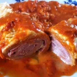 Rezept Gerollte Ofenschnitzel Toskana von Thermielfe - Rezept der Kategorie Hauptgerichte mit Fleisch