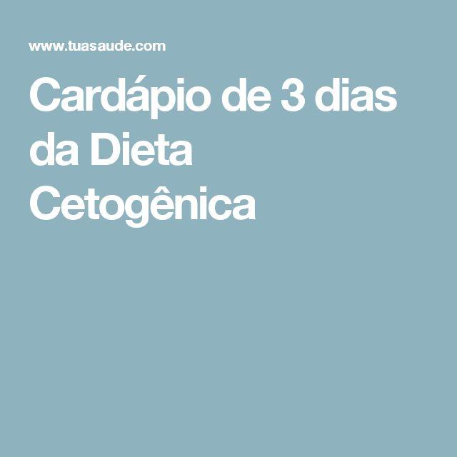 Cardápio de 3 dias da Dieta Cetogênica