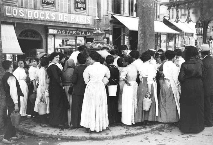 Font de Canaletes, Rambles de Barcelona, 1900