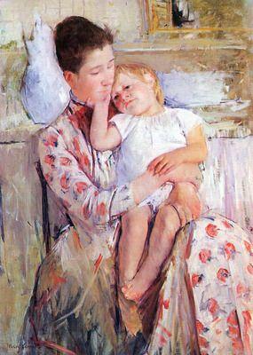 Mother and Child by Cassatt.  Order from DEKORAMI as a poster, canvas print, mural. Zamów jako obraz na płótnie, plakat lub fototapetę na DEKORAMI.pl