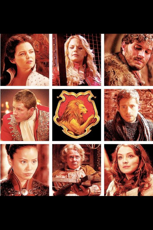 Gryffindor sorted Once Upon a Time characters. (I don't argree with Aurora to be here, I've always think she was an hufflepuff...)