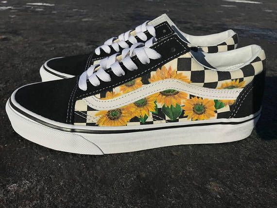Sunflower Vans Old Skool Shoes | Custom