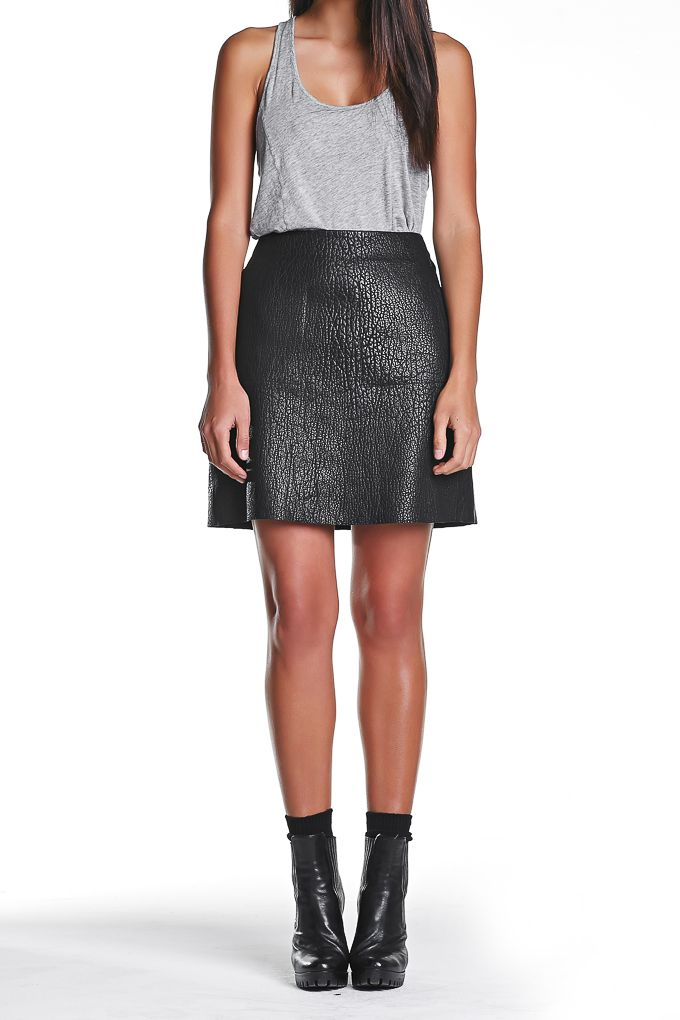 www.jerrijones.com.au  JERRI.JONES A-Line leather skirt