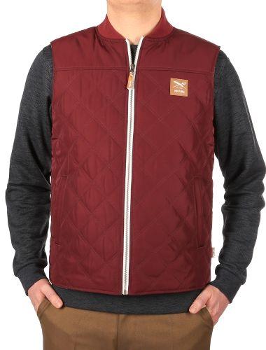 Kollwitz Vest [maroon] // IRIEDAILY Jackets Men // FALL/WINTER 2014: http://www.iriedaily.de/men-id/men-jackets/ #iriedaily