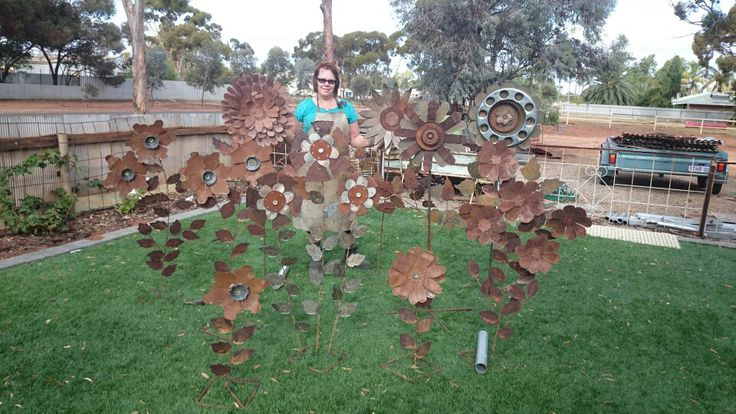 Me and my rustic garden peices