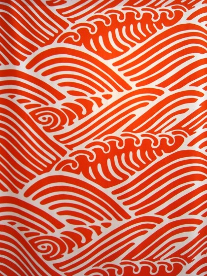 Textile from a 2011 exhibition of vintage fabrics at the Borås Textile Museum, Sweden.