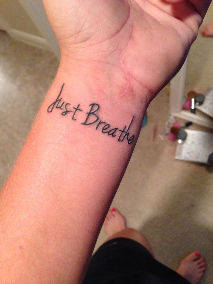 Quote Wrist Tattoo