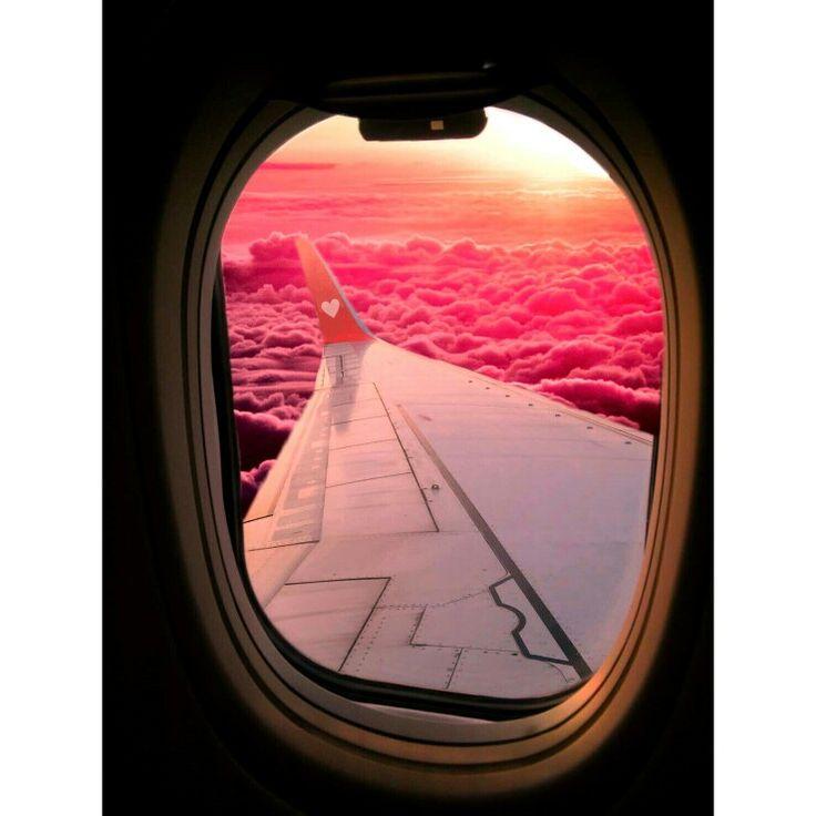 Pink clouds ✈