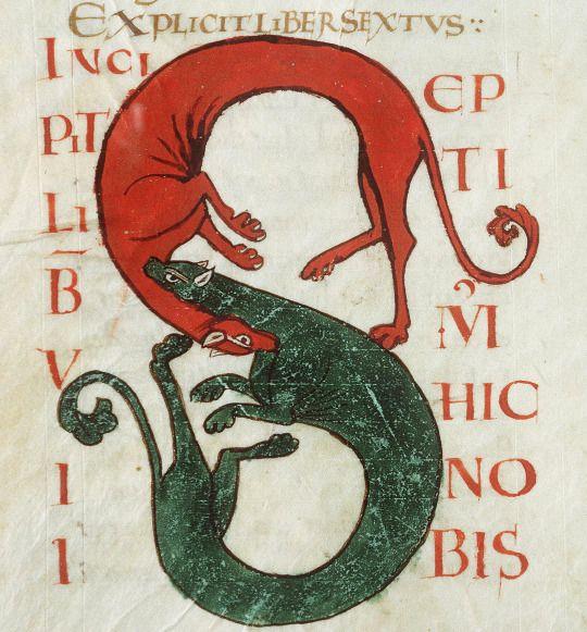 initial 'S'  Hilary of Poitiers, De Trinitate, France ca. 1093-1132  Vendôme, Bibliothèque municipale, ms. 28, fol. 51v