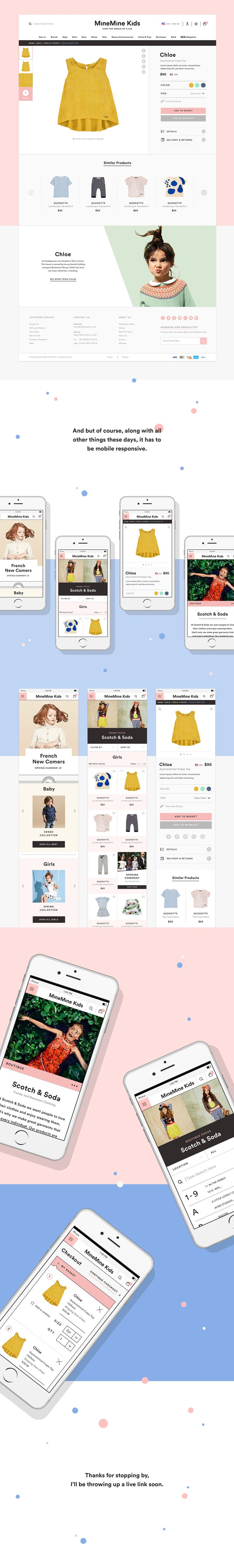 How to design a website for kids - Minemine Kids Is An Online Department Store For Kids Where You Can Shop Anything From Clothing