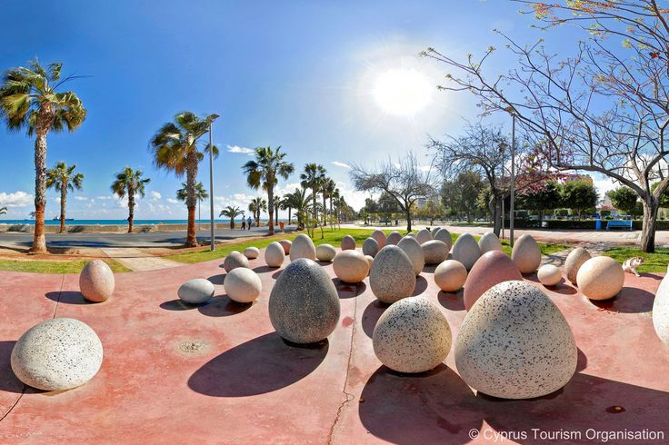 Cyprus Lemesos.  Take a walk along the seafront promenade known as Molos to enjoy the remarkable works of art of the open-air sculpture park.