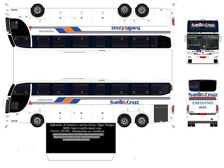Convoy Semi Truck Papercraft | Sejam Bem Vindos ao meu Blog!!!: MARCOPOLO PARADISO G6 VIAÇÃO SANTA ...