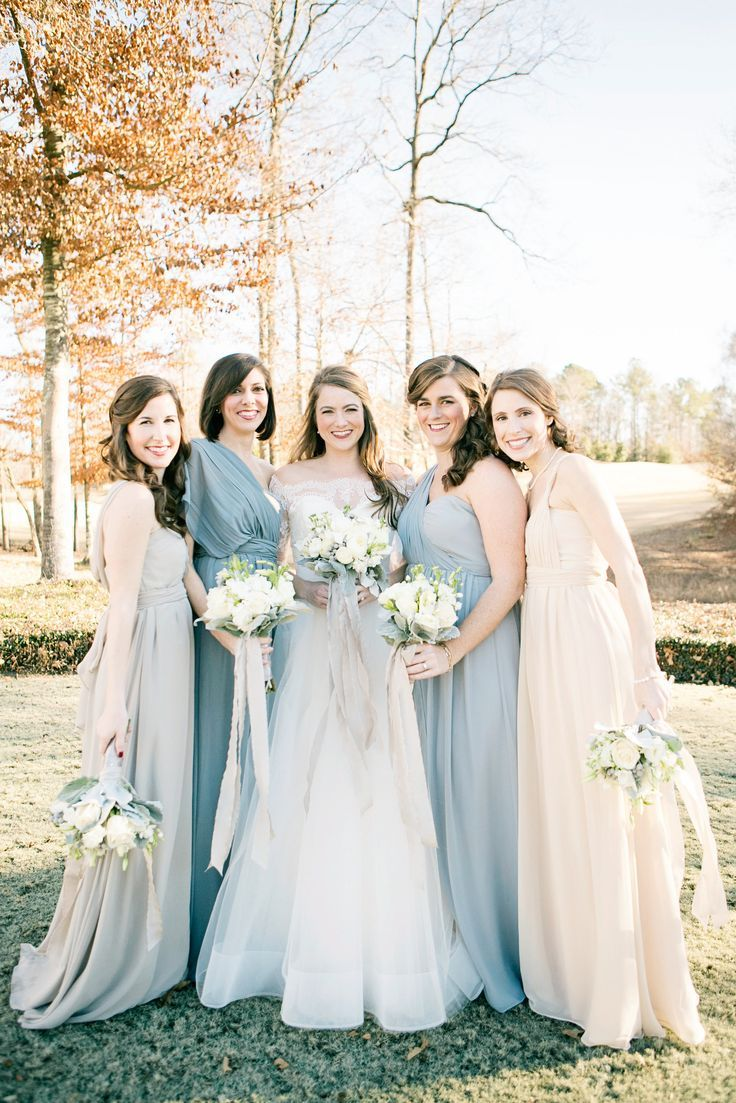 aa03f7d7c5f3f Winter Wedding Blue Bridesmaid Dresses