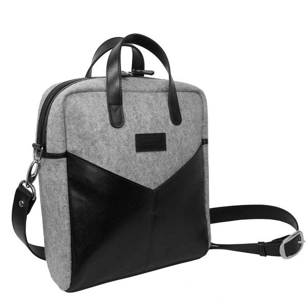 This is a bigger bag but an example of felt looking nice with leather in case we want to try eco felt lining.